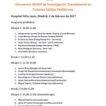 I Encuentro SEHOP de Investigación Translacional en Tumores Sólidos Pediátricos