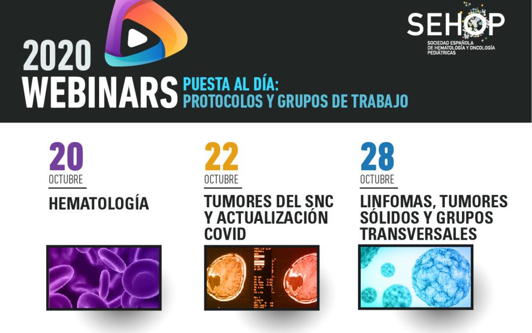 Webinars de la Sociedad Española de Hematología y Oncología Pediátricas (SEHOP)